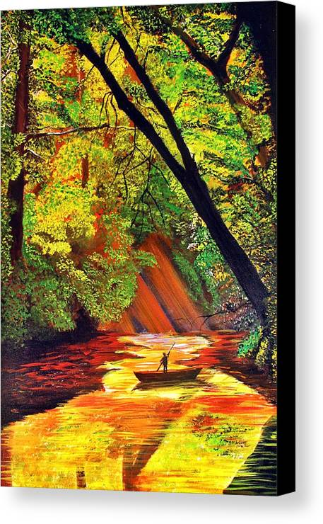 Nature Canvas Print featuring the painting Tranquil by Girija Hariharan