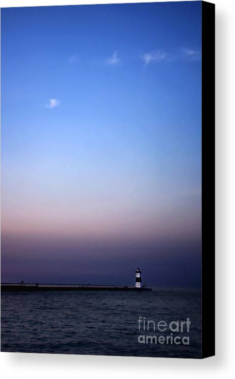 Lighthouse Canvas Print featuring the photograph Tranquility by Gaby Swanson