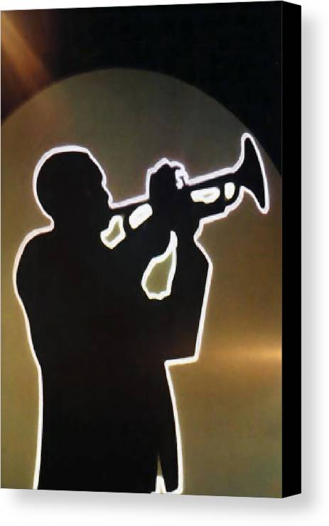 Classic Canvas Print featuring the photograph Trumpet - Classic Jazz Music All Night Long by Christine Till