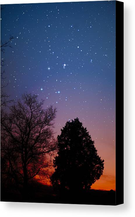 Stars Canvas Print featuring the photograph Twilight Transitions by Charles Warren