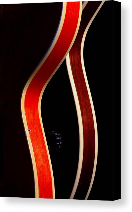 Guitar Canvas Print featuring the photograph Twin Gibsons 2 by Art Ferrier