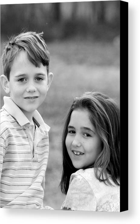Canvas Print featuring the photograph Two Of Us - J Spring Shoot by Lisa Johnston