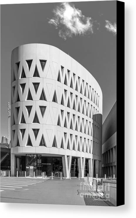 American Canvas Print featuring the photograph University Of Cincinnati Lindner Center by University Icons