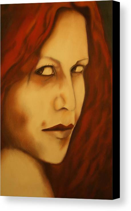 Wicca Prints Canvas Print featuring the painting Vampire by Roger Williamson