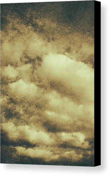 Vintage Cloudy Sky. Old Day Background Canvas Print / Canvas Art by ...