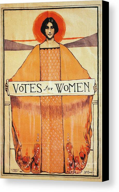 1911 Canvas Print featuring the photograph Votes For Women, 1911 by Granger