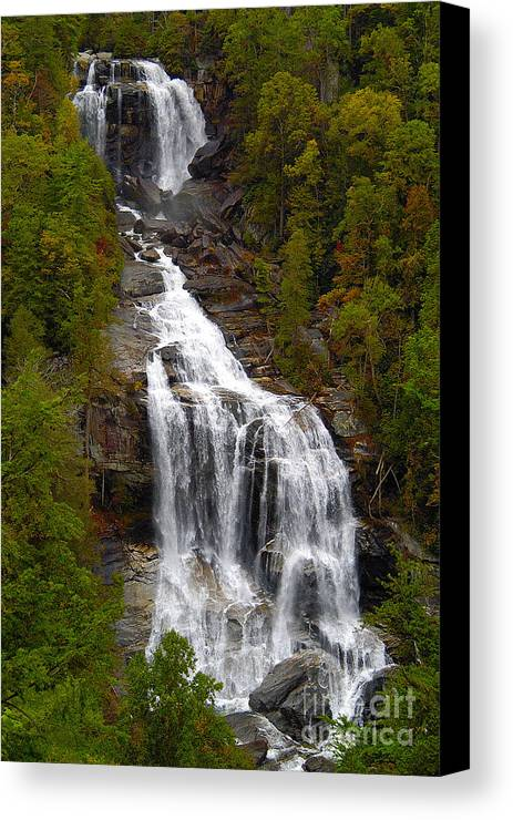 Waterfall Canvas Print featuring the photograph Whitewater Falls by Neil Doren