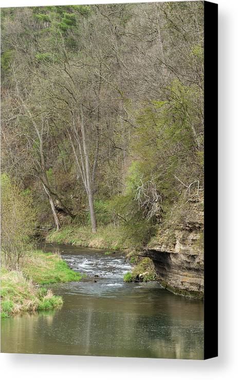 River Canvas Print featuring the photograph Whitewater River Spring 45 B by John Brueske
