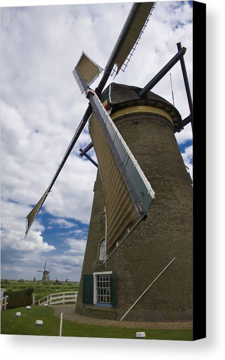 Windmill Canvas Print featuring the photograph Windmill In Motion by Joshua Francia