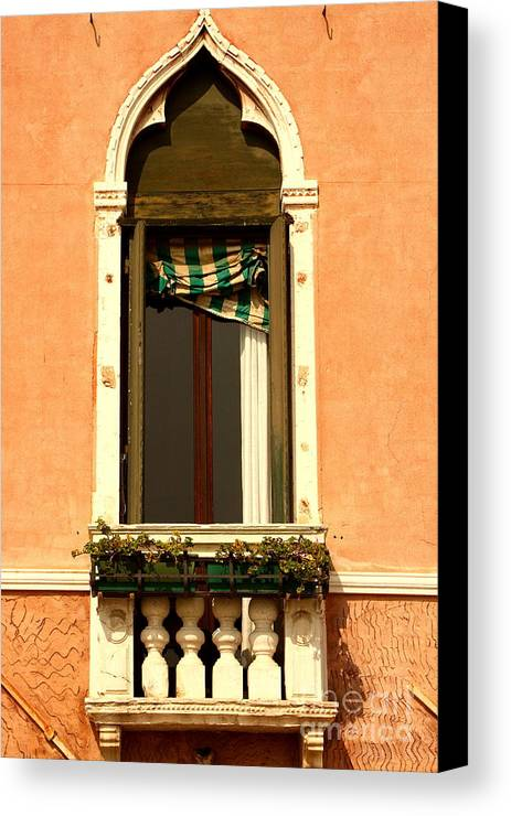 Venice Canvas Print featuring the photograph Window In Venice by Michael Henderson
