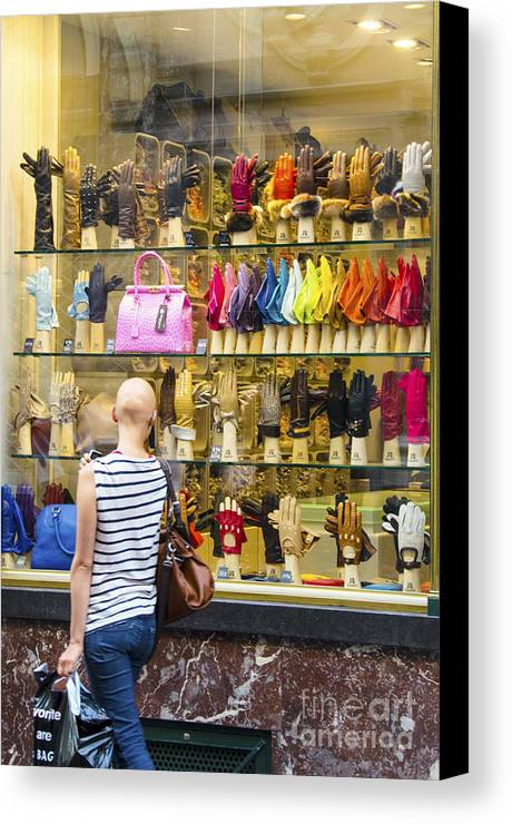 Places Canvas Print featuring the photograph Window Shopper by Pravine Chester