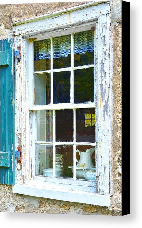 Waterloo Village Canvas Print featuring the photograph Window To The Past by Regina Geoghan