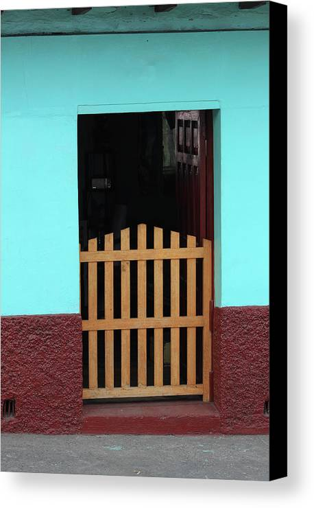 Door Canvas Print featuring the photograph Wood Gate In A Door by Robert Hamm