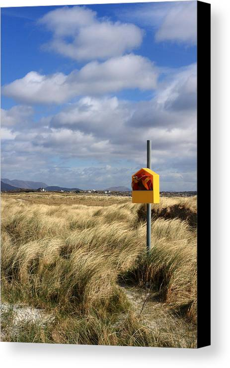 Yellow Canvas Print featuring the photograph Yellow Life Saver by Pierre Leclerc Photography