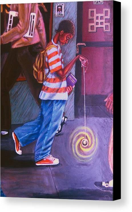 Maliksart Canvas Print featuring the painting Young Life by Malik Seneferu
