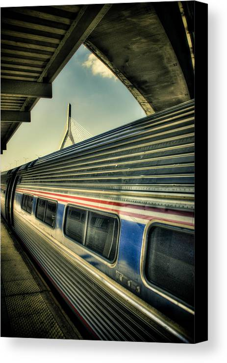 Andrew Kubica Canvas Print featuring the photograph Zakim by Andrew Kubica