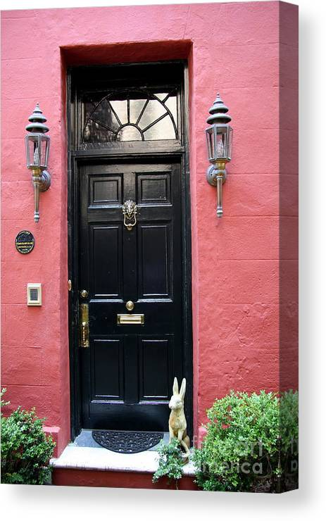 Door Canvas Print featuring the photograph Door Oldtown Charleston by Christiane Schulze Art And Photography
