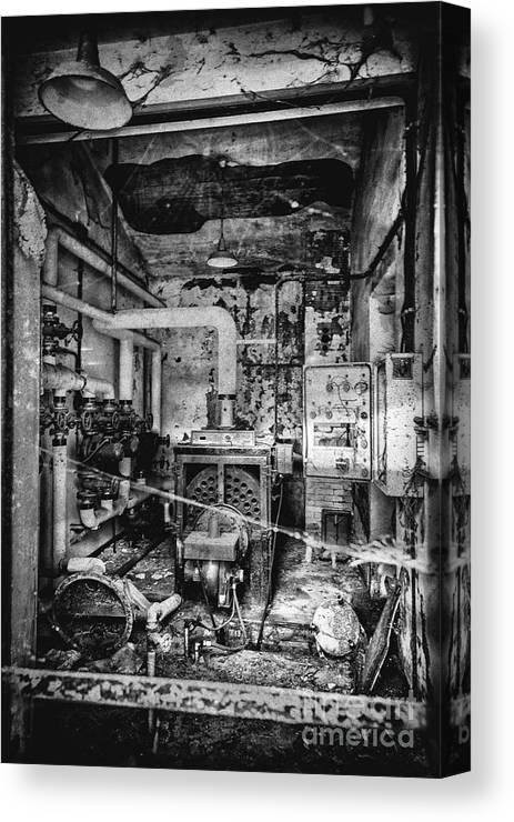 Abandoned Canvas Print featuring the photograph Abandoned Sanatorium by Traven Milovich