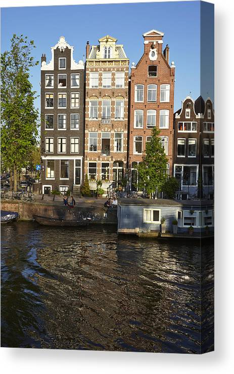 Amsterdam Canvas Print featuring the photograph Amsterdam - Old Houses At The Herengracht by Olaf Schulz