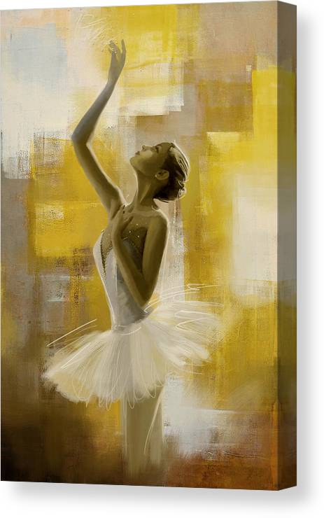 Ballerina Canvas Print featuring the painting Ballerina by Corporate Art Task Force