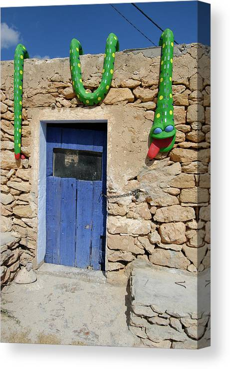 Curious Decoration Shop At Formentera Canvas Print