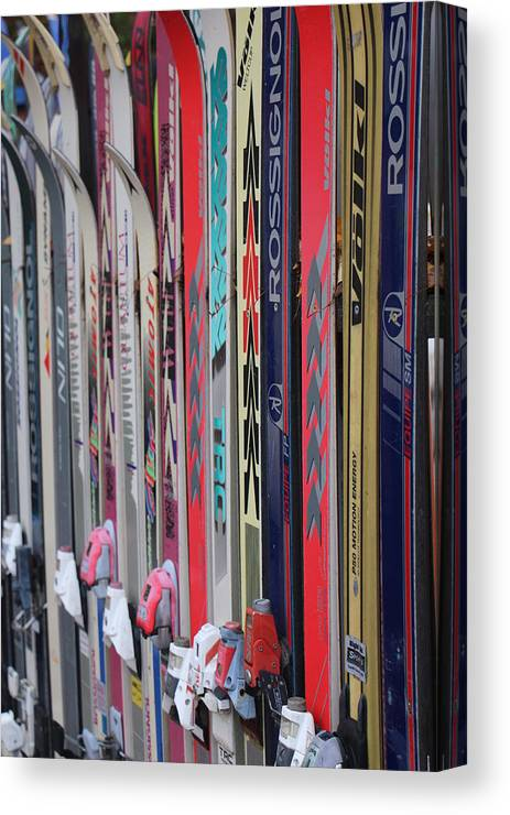 Nh Canvas Print featuring the photograph Lets Ski by Jeffrey Akerson