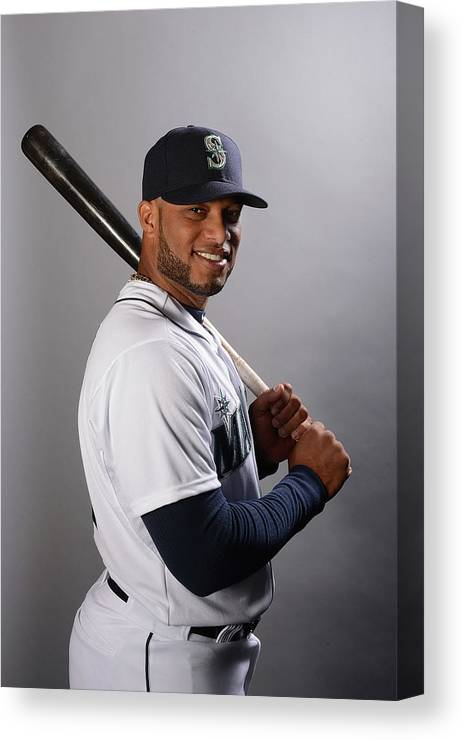 Media Day Canvas Print featuring the photograph Seattle Mariners Photo Day by Norm Hall
