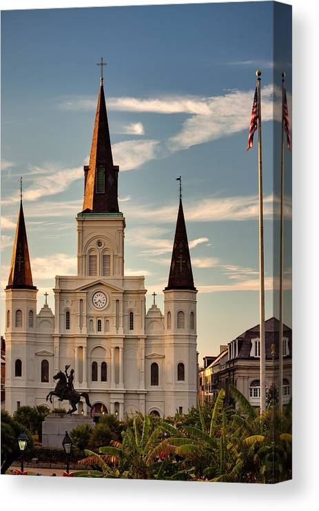 Cathedral Canvas Print featuring the photograph St. Louis Cathedral Va by Chris Moore