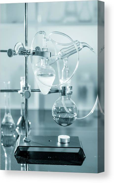 Analysis Canvas Print featuring the photograph Chemistry Experiment In Lab by Wladimir Bulgar