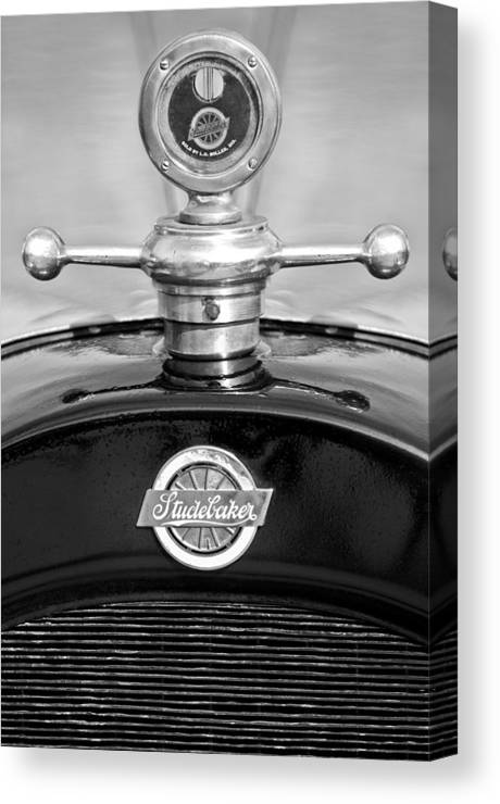 1922 Studebaker Touring Canvas Print featuring the photograph 1922 Studebaker Touring Hood Ornament 3 by Jill Reger