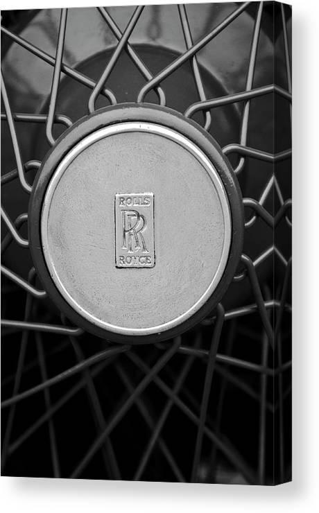 1928 Rolls-royce Canvas Print featuring the photograph 1928 Rolls-royce Spoke Wheel by Jill Reger