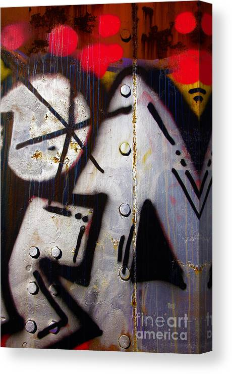 Industrial Canvas Print featuring the photograph Industrial Detail by Carlos Caetano