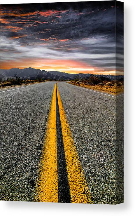 Desert Landscape Canvas Print featuring the photograph On Our Way by Ryan Weddle