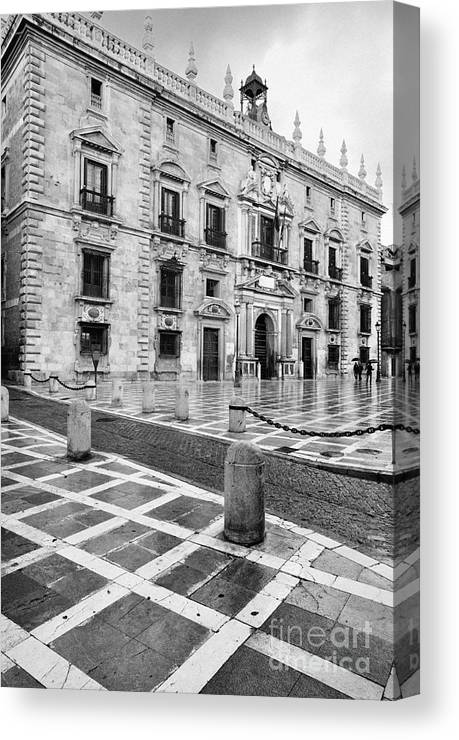 Monochrome Canvas Print featuring the photograph The Royal Chancery Of Granada by Guido Montanes Castillo