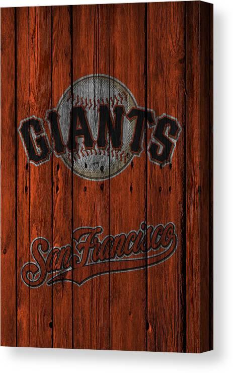 Giants Canvas Print featuring the photograph San Francisco Giants by Joe Hamilton