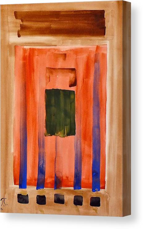 Modern Art Canvas Print featuring the painting Untitled by Troy Thomas