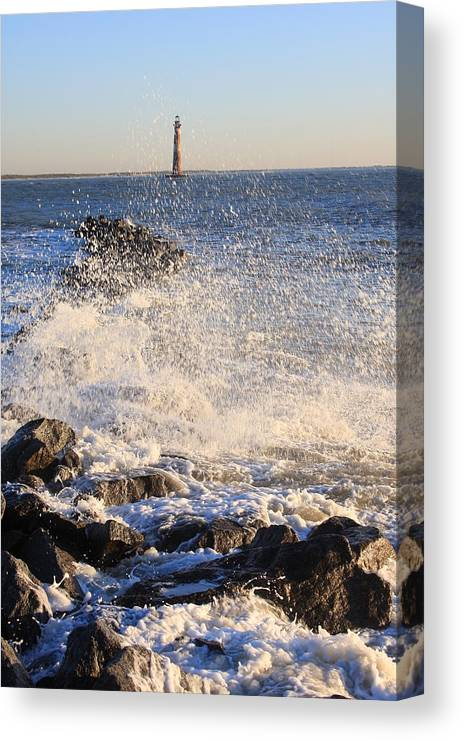 Morris Island Lighthouse Canvas Print featuring the photograph Morris Island Lighthouse by Mountains to the Sea Photo