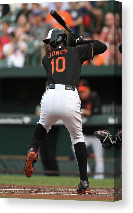People Canvas Print featuring the photograph New York Yankees V Baltimore Orioles 9 by Patrick Smith