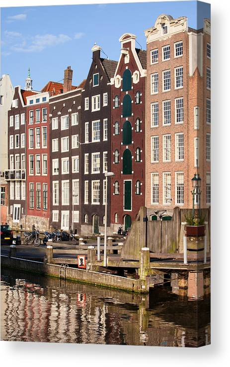 Amsterdam Canvas Print featuring the photograph Amsterdam Houses Ar Sunset by Artur Bogacki