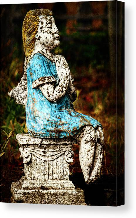 Angel Canvas Print featuring the photograph Angel Prayers by Melanie Lankford Photography
