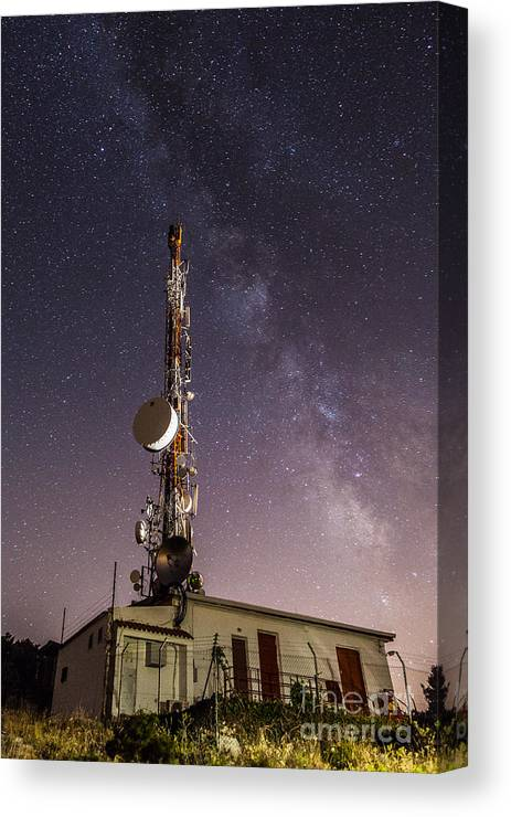 Canvas Print featuring the photograph Antenna by Eugenio Moya