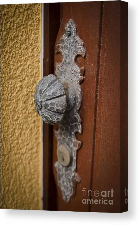 Antique Canvas Print featuring the photograph Antique Doorknob by Jessica Berlin