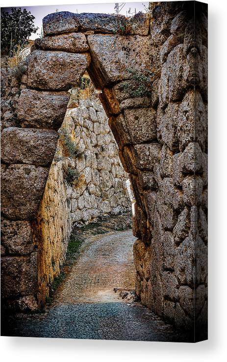 Medieval Canvas Print featuring the photograph Arched Medieval Gate by Dany Lison