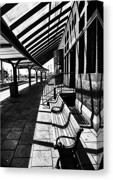 At The Station Canvas Print featuring the photograph At The Station by Karol Livote