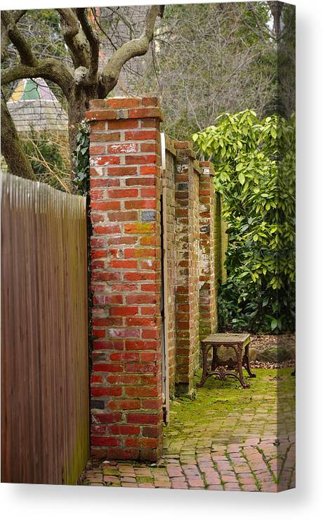 Fence Canvas Print featuring the photograph Backyard Solitude by Rick Adams