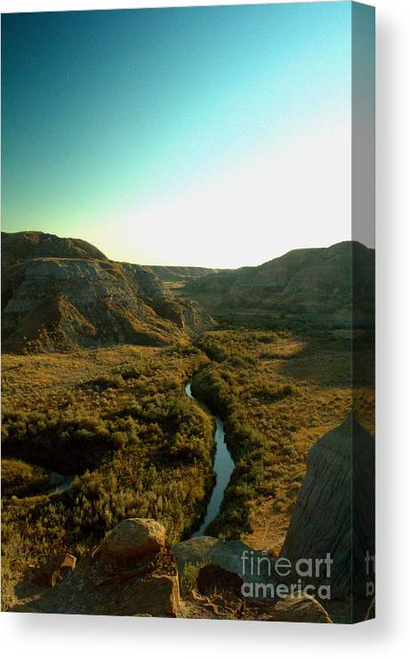 Coulee Canvas Print featuring the photograph Badlands Coulee by Matthew Naiden