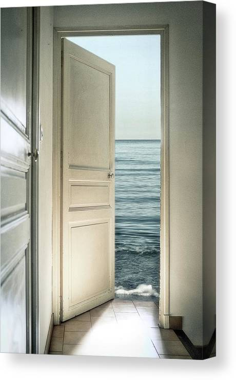 Door Canvas Print featuring the photograph Behind The Door by Christian Marcel