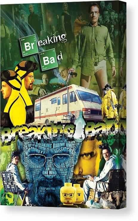 Breaking Bad Canvas Print featuring the digital art Breaking Bad by Bryan Fleming