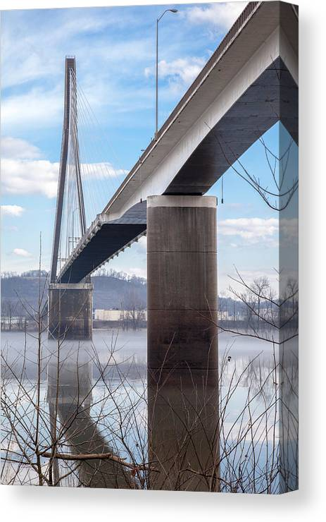 River Canvas Print featuring the photograph Bridge Over The Mist by Lee Wellman