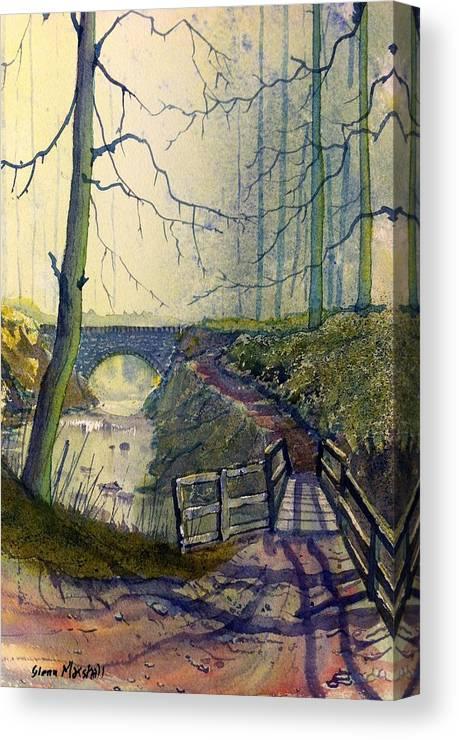 Glenn Marshall Artist Canvas Print featuring the painting Bridges by Glenn Marshall